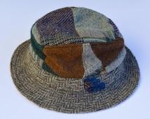 1970s Hats of Ireland 100% Pure Wool Donegal Tweed Gents Hat Made in Ireland Size 6 3/4 55cms Vintage Hat Gens Hat Gentlemans Hat