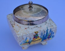 Sandland Ware Vintage Sugar Bowl Vintage Preserve Pot with EPNS Lid  Vintage Table Vintage Serving Vintage Kitchen