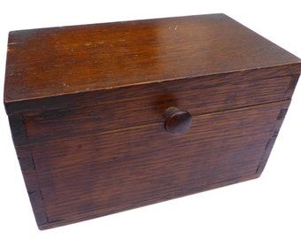 1930s Box Vintage Jewelry Box Antique Tea Caddy Vintage Woodenware Box Trinket Box Storage Jewellery Box