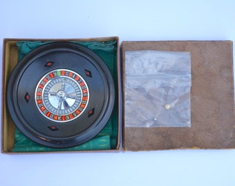 1950s K&C Roulette Set Made in England Vintage Games Room Vintage Casino Traditional Game Family Game Xmas Game Christmas