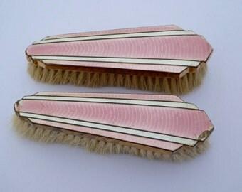 1920s Brushes Art Deco Brush Guilloche Enamel Brush Vintage Clothes Brush Vintage Dressing Table Vintage Vanity Vintage Grooming