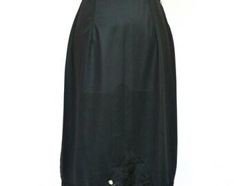 SALE 20%OFF 1960's Vintage Half Slip, Black Lace Slip, Black Skirt, Women's Lingerie