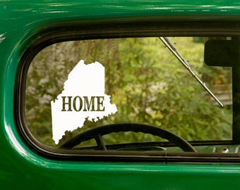 Maine Decal, Car Decal, State Sticker, Laptop Sticker, Maine Sticker, Bumper sticker, Vinyl Decal, Car Stickers