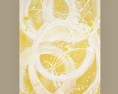 art & collectibles, Paintings,  Acrylic Abstract Painting  Original Ora Birenbaum Titled: Zest 30x48x1.5""