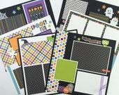Halloween Scrapbook Page Kit or Premade 6 12x12 pages Pre-Cut with Instructions