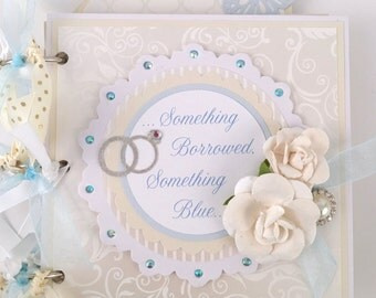 Wedding Scrapbook Mini Album Kit or Pre Made Pre-cut with instructions Wedding Gift