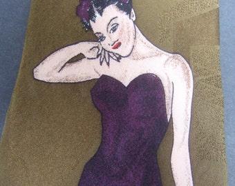 Italian Silk Stylized Woman Necktie