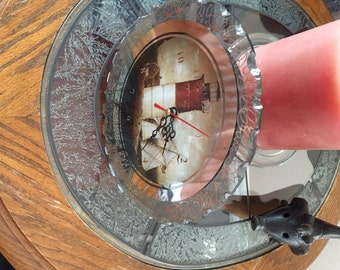 Light House Clock Glass   Very nice