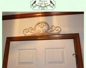 Fancy Wood Monogram - Over A Door - Mantel - Shelf - Laser Cut Wood