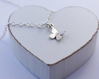 Tiny Silver Butterfly Necklace - Sterling Silver