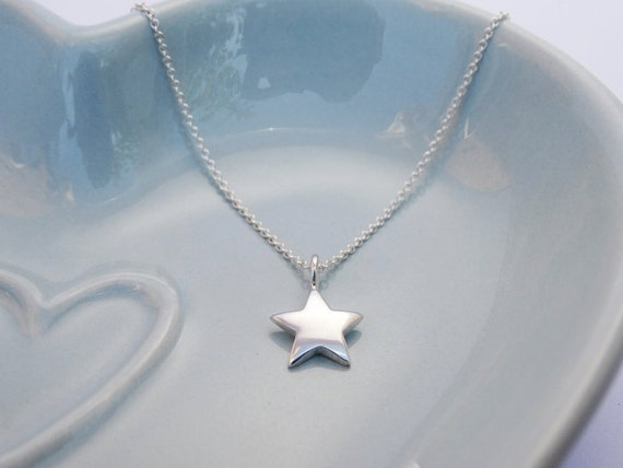 Little Silver Star Necklace - Sterling Silver