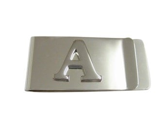 Monogram Letter A Money Clip