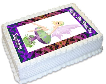 Personalised A4 Edible Cake Topper - Fairy