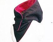 Hooded Scarf - Soft shell / waterproof / black