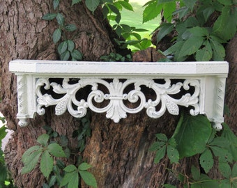 Beautiful White Ornate Shelf