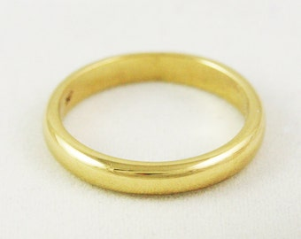 3mm Heavy Traditional Wedding Band / Solid 14k 18k 22k 24k Gold / Yellow Rose or White Gold