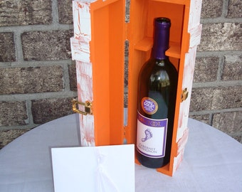 Love Letter Wine Box, Wedding Wine Box tradition for love that lasts forever. ORANGE SUNSET