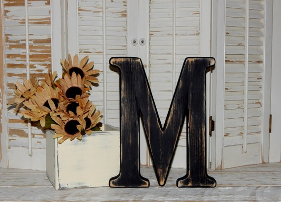 Wooden Letter M Distressed Wood Letters Made To Order Photo