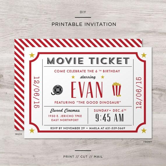 Movie Ticket For Child