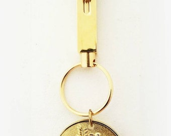 Osceola Renegade FSU Seminoles Gold Engraveable Two Part Keychain