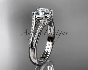 platinum diamond unique engagement ring, wedding ring ADER108
