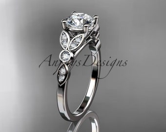 platinum unique engagement ring, wedding ring ADLR387