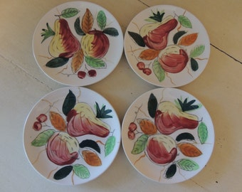 Vintage China FOUR 4 Small Plates for Wedding Reception Bridal Luncheon Showers Hostess Gift Tea Party Crafts