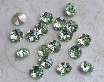 18 Chrysolite 34ss Swarovski Xirius Round Rhinestones-Loose Rhinestones-Loose Crystals-Wholesale Rhinestones