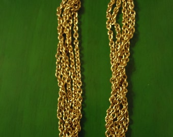 Vintage Boho Golden Waterfall Link Necklace