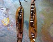 Boho Dangle Earrings, Mixed Metals and Beads