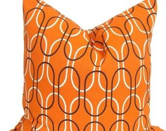BURNT ORANGE PILLOW.18x18 inch.Decorative Pillow Cover.Home Decor.Decor.Housewares.Home Decor.Orange Cushion Cover. Orange Pillow, Cm.Orange