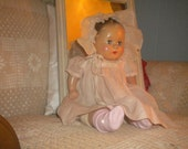 "REDUCED...Sweet  20""  Vintage ABC Composition Baby Doll, Doll Collector, Collectible Doll,Antique Doll"