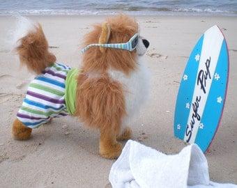 DOG SWIMMING TRUNKS, Dog Stripes Swim Trunks, Dog swimm wear, Summer beach clothes