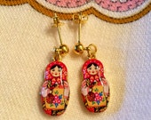 Russian Doll Earrings Free Shipping