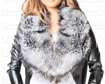Canadian Silver Fox Fur Collar