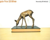 ON SALE Vintage Brass Deer