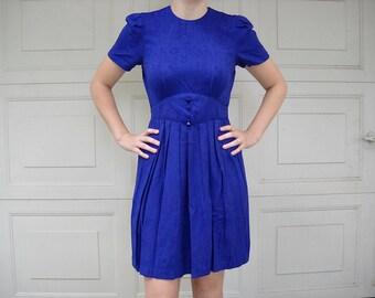 80s Royal Purple Dress // vintage
