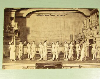 Mutt and Jeff Photo Postcard - Vintage Lyceum Theatre Performance Play Picture