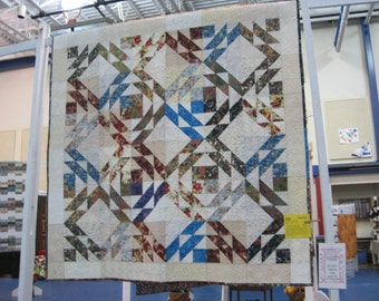 Reversible lap quilt:  two in one!