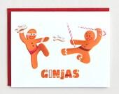 "Funny Christmas Card, ""Ginjas,"" Funny Holiday Card"