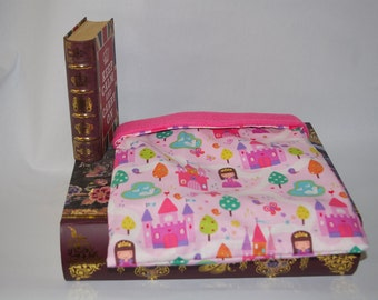 Pink Princess Cotton with Pink Fleece Snuggle Bag