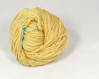 flowering gum natural dyed 2 ply superwash merino Hand spun yarn naturally dyed with  eucalyptus leaves. Pure merino wool.