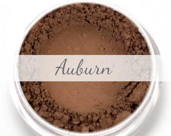 Auburn Eyebrow Powder  Sample - Vegan Mineral Eye Brow Powder Net Wt .4g Mineral Makeup Pigment