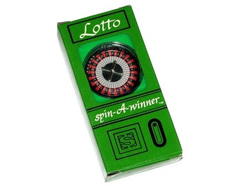 Vintage 80s Lucky Lotto Spin-A-Winner Lottery Number Choosing Game by MEGABUCKS