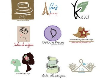 Custom Logo OOAK logo Hand Drawn Logo  Boutique Logo  Branding - Unique Design Blog Logo  Branding Board  Customized photography logo
