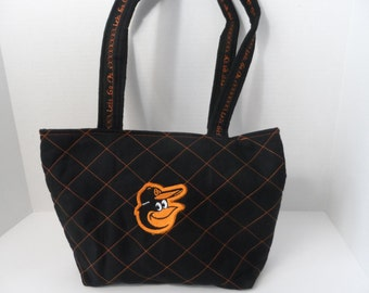 Orioles Quilted Purse - Quilted Tote - Market Bag - Shopping Bag - NHL Purse - MLB Purse - Baltimore Orioles Purse - Shoulder Bag