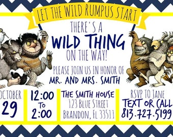 Where The Wild Things Are Baby Invitation Download