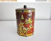 ON SALE Vintage Murray Allen Tin Asian Style Tin