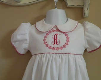 Baby Boy Hand Smocked Christmas Bubble Suit
