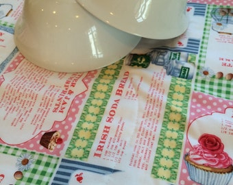 Cottage Chic Dish Drying Mat, Farm House Kitchen, Bistro, eco friendly kitchen